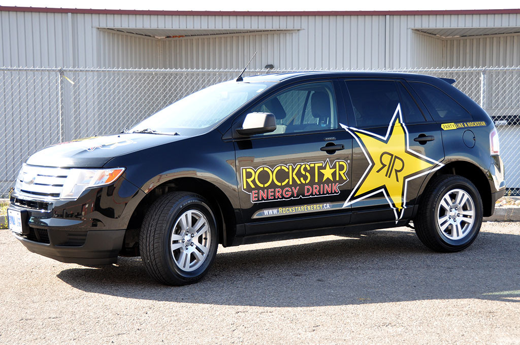Rockstar Ford Edge Wrap 10west Commercial Graphics